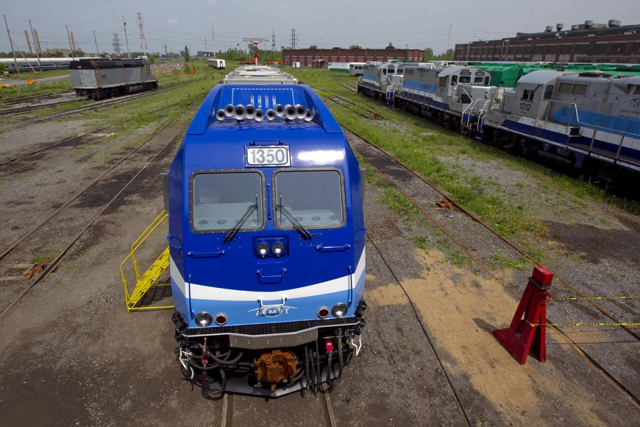 La nouvelle locomotive hybride (diesel-électrique) au garage ferroviaire... (Photo: Alain Roberge, archives La Presse)