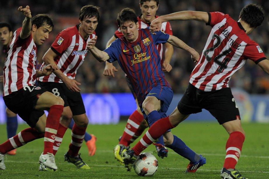 Lionel Messi, auteur d'une passe décisive et d'un... (Photo : Lluis Gene, AFP)