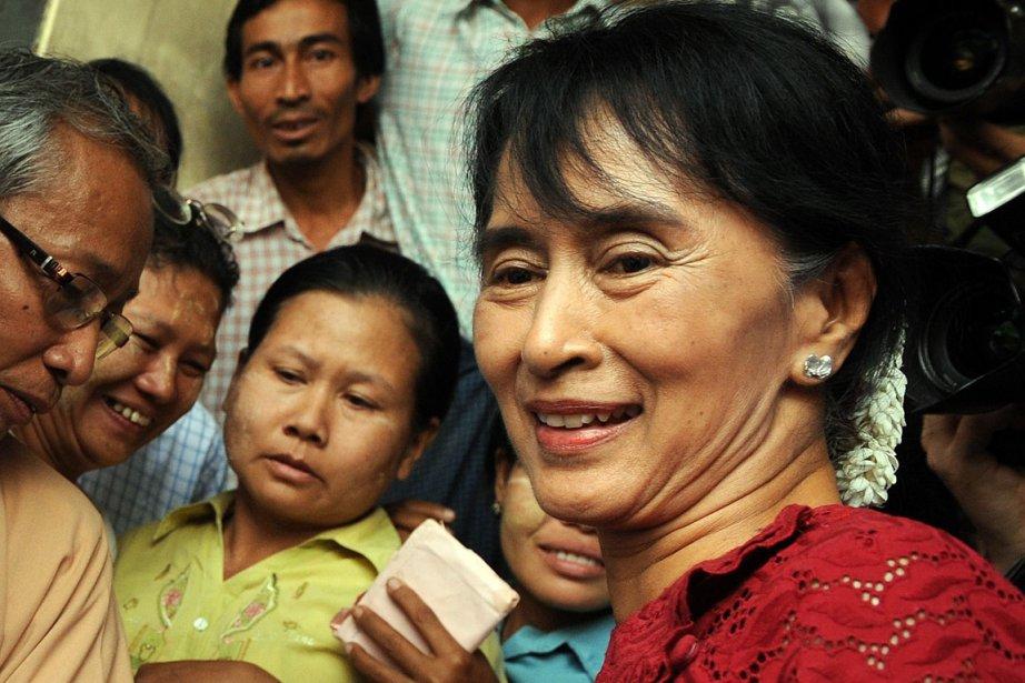 Aung San Suu Kyi.... (Photo: Christophe Archambault, AFP)