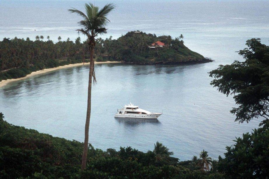 Paysage typique des îles Fidji en des temps... (Photo archives AP)