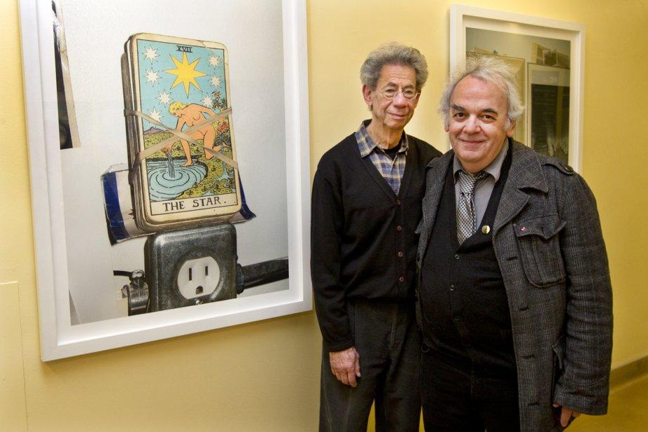 Les photographes Gabor Szilasi et Michel Campeau ont... (Photo: Robert Skinner, La Presse)