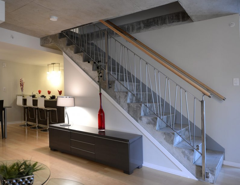 Escalier a etage saint denis design for Escalier beton design