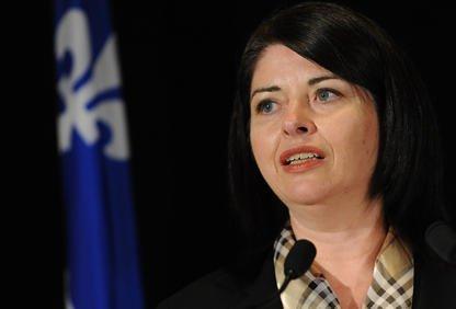 Line Beauchamp, ministre de l'Éducation.... (Archives La Tribune)