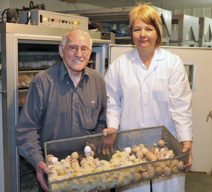 L'ancien propriétaire du Couvoir de Chicoutimi, Ernest Simard, a transféré son entreprise cette année à Josée Lavoie. | 6 avril 2012