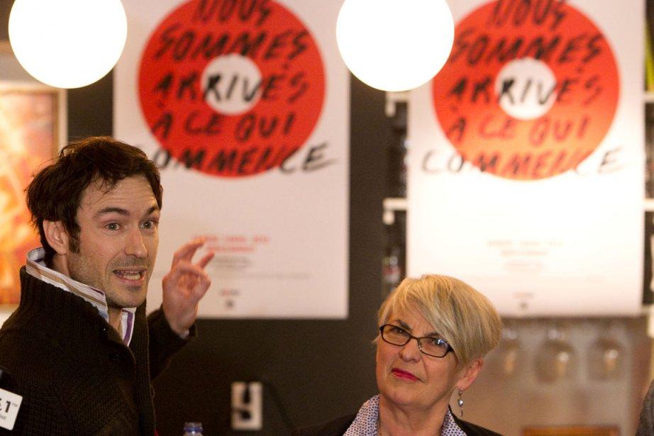 Deux des organisateurs de Nous?, Sébastien Ricard et... (Photo Hugo-Sébastien Aubert, La Presse)