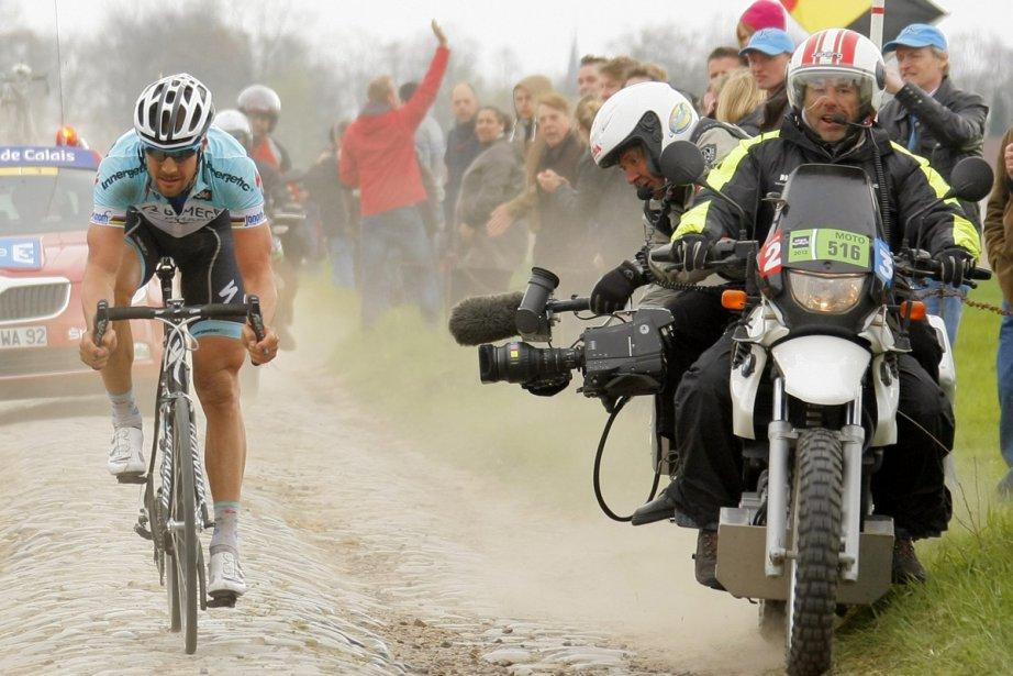 Le Belge Tom Boonen (Omega Pharma) a égalé... (Photo: Bernard Papon, Reuters)