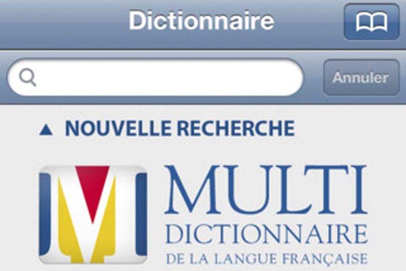 Le Multidictionnaire de la langue française prend d'assaut l'App Store.