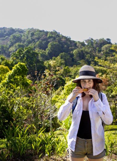Visite de la plantation de la chocolatière Montréalaise Geneviève Grandbois dans la région de Ojochal au Costa Rica. (Marco Campanozzi, La Presse)