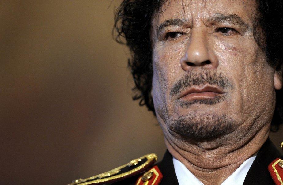 Mouammar Kadhafi... (Photo archives AFP)