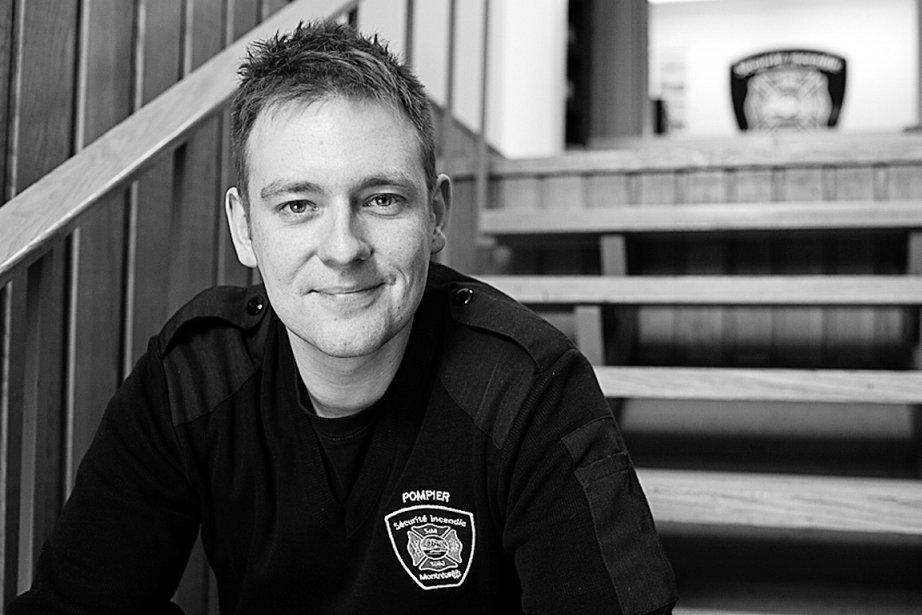 Érick Riendeau, pompier éducateur au Service des incendies...