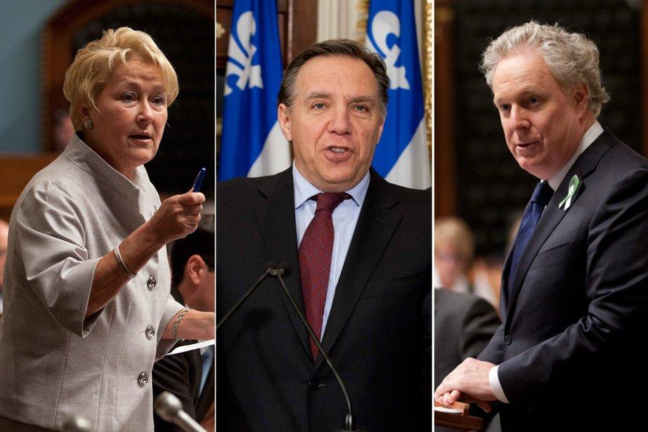 La chef du Parti québécois Pauline Marois, le... (Photo: PC)