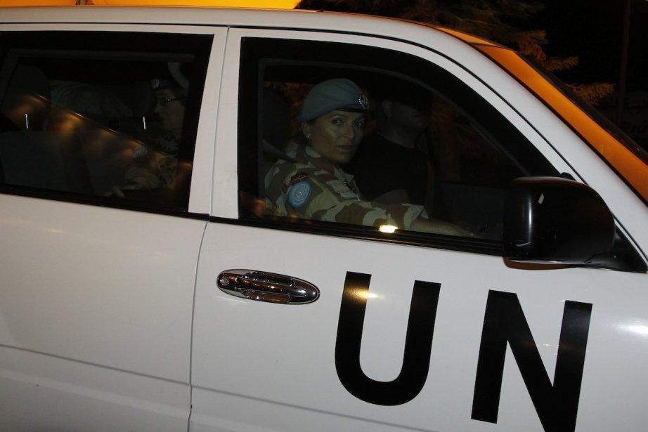 Malgré la présence de l'ONU, les violences continuent... (Photo Khaled al-Hariri, Reuters)