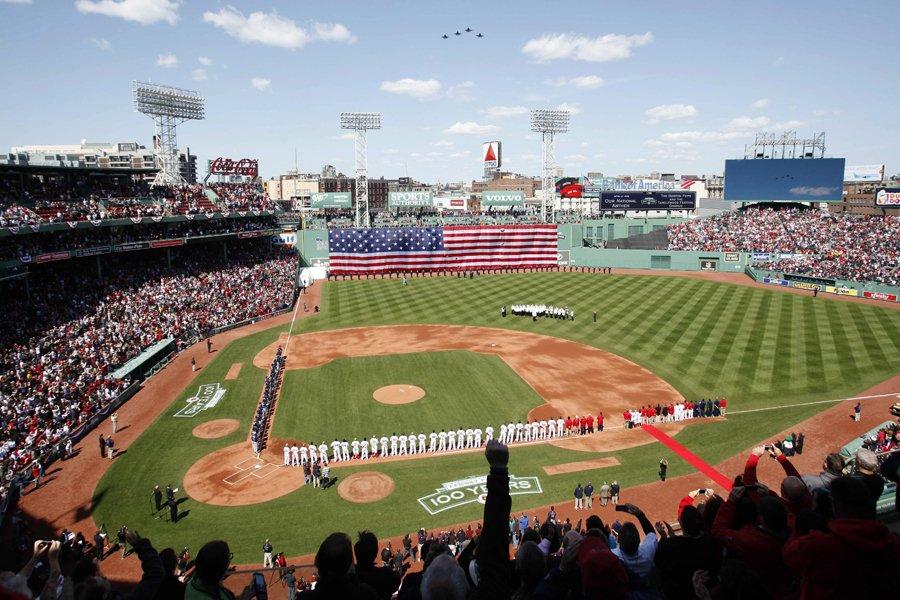 Le Fenway Park de Boston célèbre ses 100... (Photo: AP)