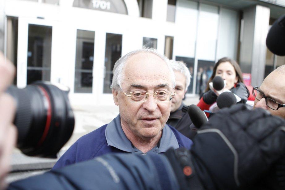 Richard Marcotte à sa sortie du quartier général... (Marco Campanozzi, La Presse)