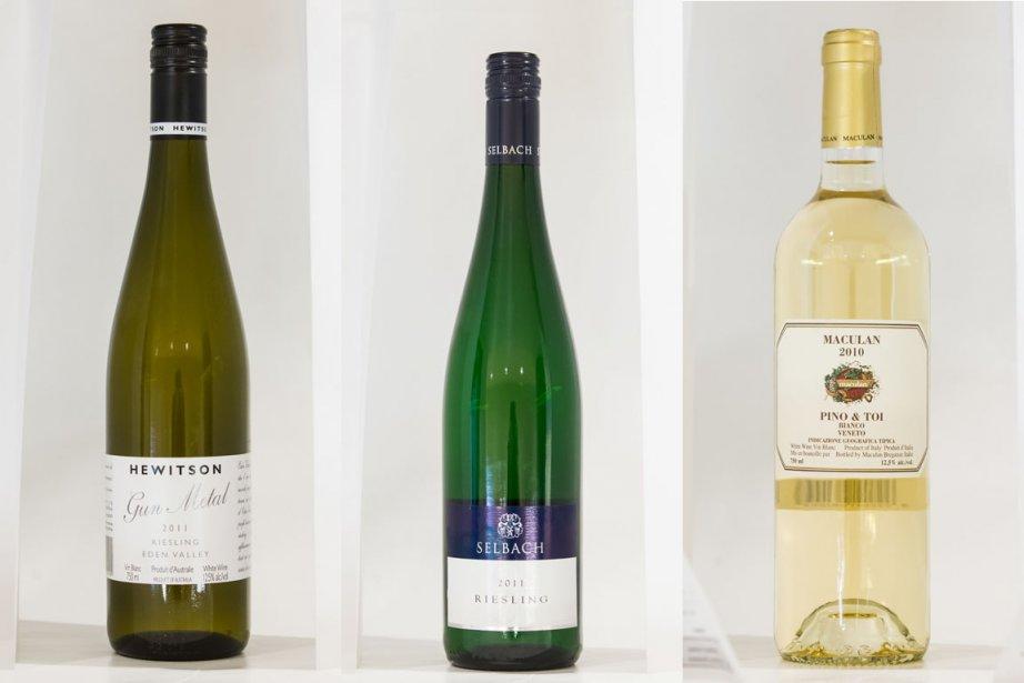 Voici trois suggestions de vins à déguster avec... (Photos Édouard-Plante Fréchette, La Presse)