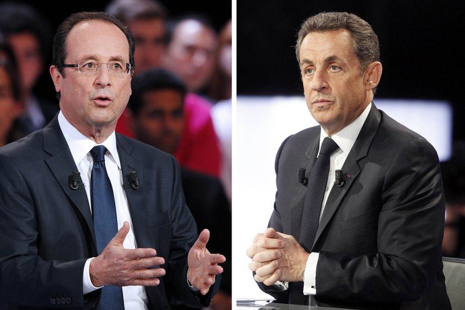 François Hollande et Nicolas Sarkozy... (Photo: AFP)