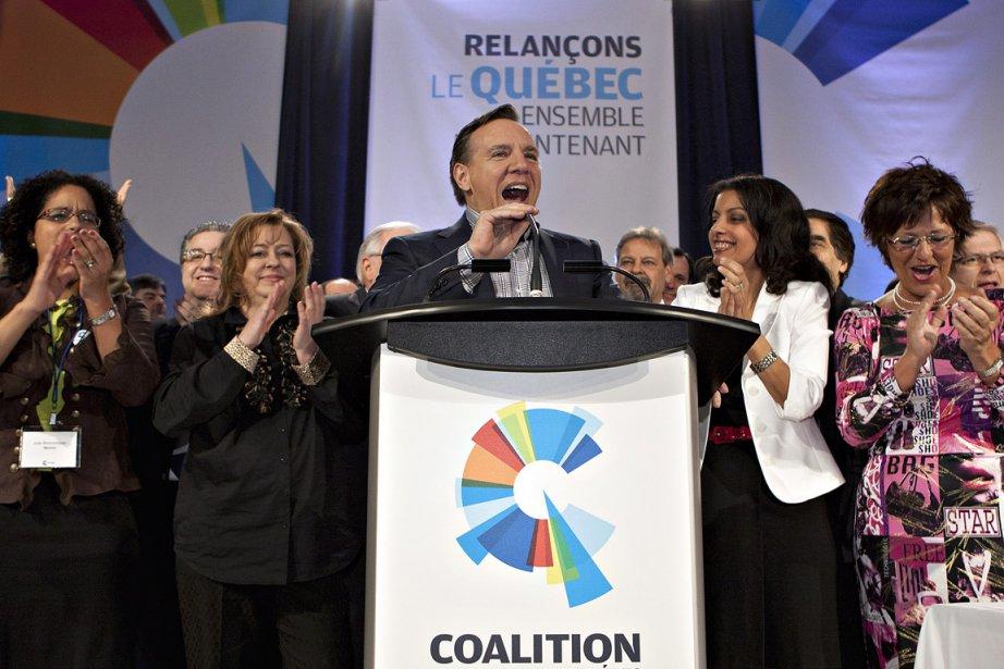 Le chef de la Coalition avenir Québec, François... (Photo: PC)