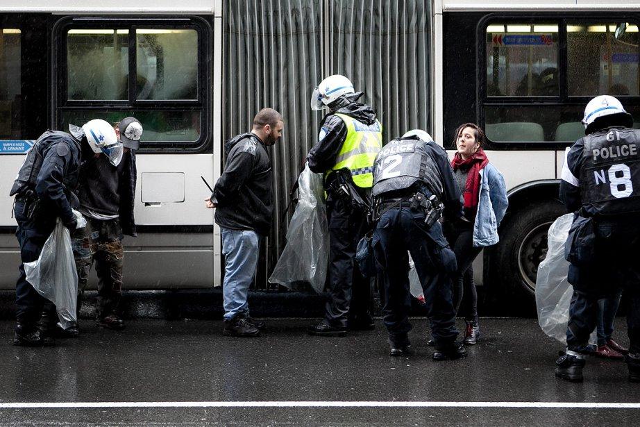 Les policiers de Montréal ont arrêté 90 personnes...