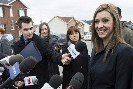 Ruth Ellen Brosseau, photographiée dans sa circonscription, le... (Photo: PC)