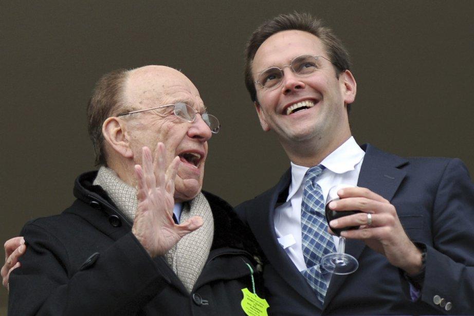 Le magnat de la presse Rupert Murdoch (à... (Photo: Adrien Dennis, Archives AFP)
