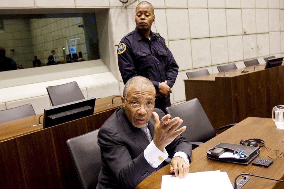 L'ex-président du Libéria, Charles Taylor, lors d'une audience... (Photo: Jerry Lampen, Archives AFP)