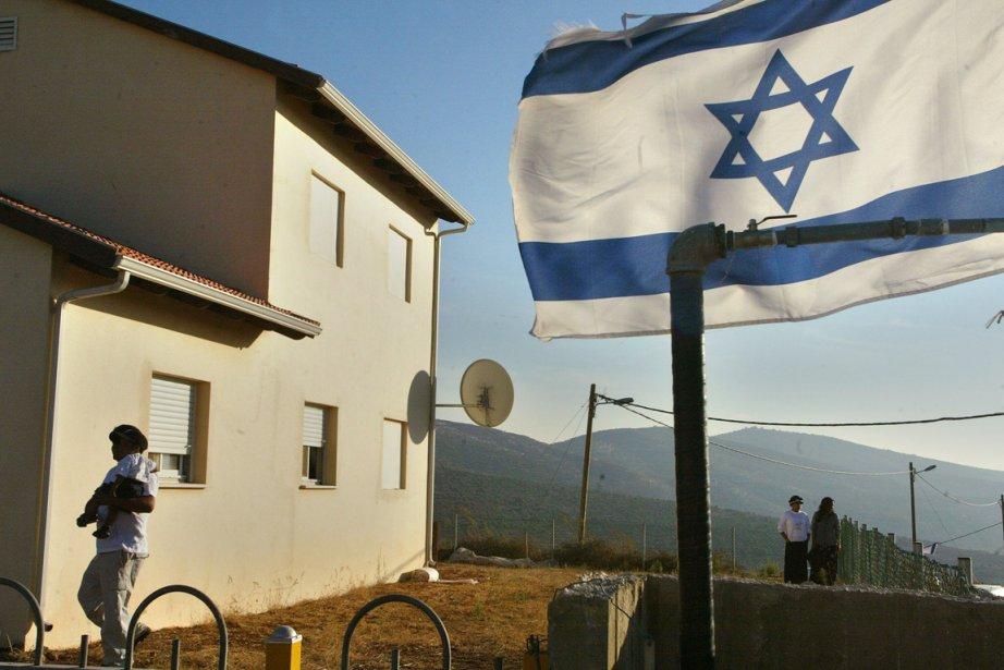 La colonie israélienne de Rechelim, abritant 240 personnes,... (Photo: Brennan Linsley, AP)