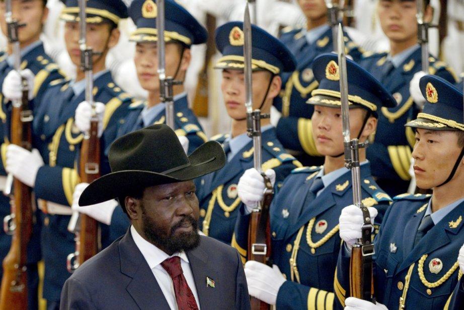 Reçu à Pékin, le président sud-soudanais Salva Kiir... (Photo: Alexander F. Yuan, AP)