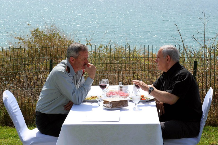 Le chef d'état-major israélien, le général Benny Gantz... (Photo:  Avi Ohayon, Archives AFP)