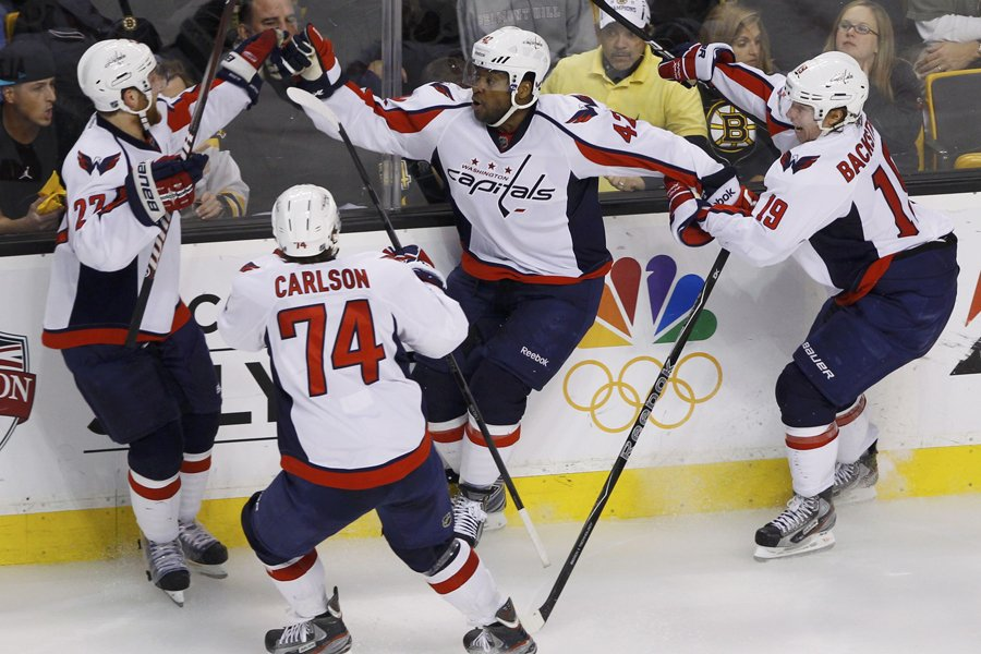 Joel Ward (42) a assuré un gain de... (Photo: Reuters)