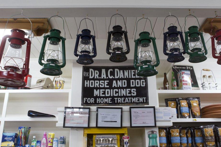 Le magasin général Barnes... (Photos Robert Skinner, La Presse)