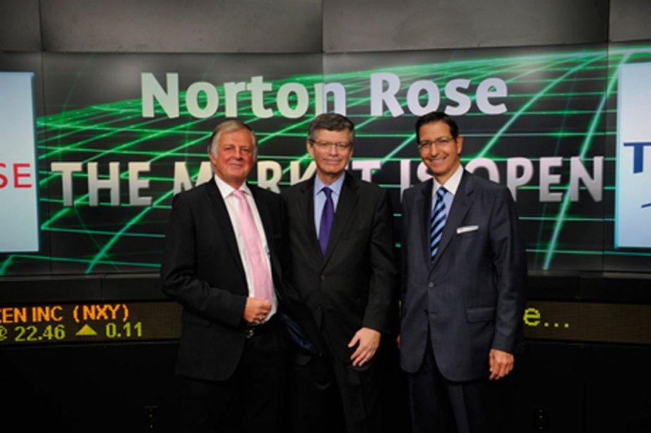 Le nouveau président deNortonRose, Norman Steinberg, à droite,... (PHOTO FOURNIE PAR NORTON ROSE)