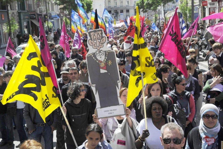Des dizaines de milliers de Marseillais sont descendus... (Photo: Boris Horvat, AFP)