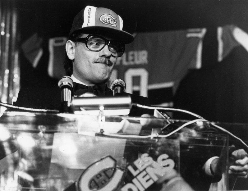 Jean-Guy Moreau au 75e anniversaire du Canadien de Montréal en 1985. (Photo: Robert Mailloux, archives La Presse)
