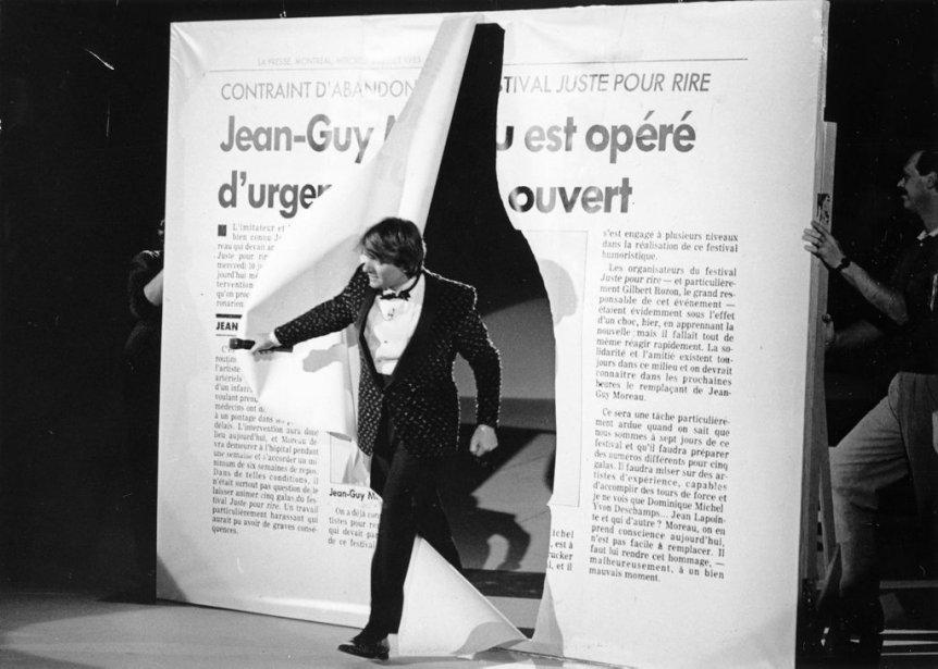 Jean-Guy Moreau débute cette émission spéciale sur le thème du coeur en passant au travers d'un article tiré de La Presse qui rappelle aux téléspectateurs son opération à coeur ouvert. (Photo: archives La Presse)
