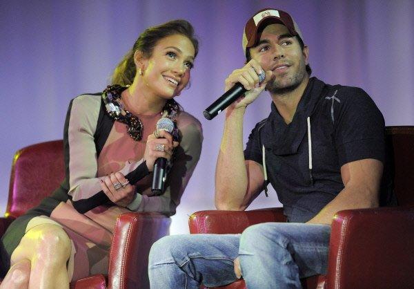 Jennifer Lopez et Enrique Iglesias... (Photo: AP)