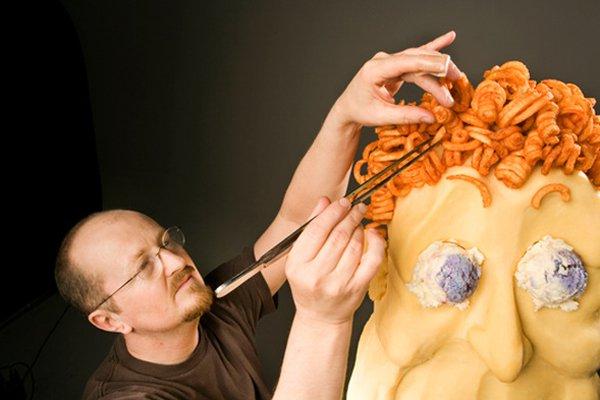 Guy Houde a notamment conçu un buste de... (Photo Francis Laroche, URBANIA)