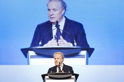 Jean Charest multiplie les présences, commela semaine dernière,... (Photo: Ninon Pednault, La Presse)