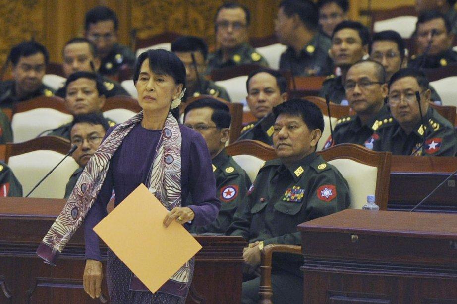 La lauréate du prix Nobel de la paix... (Photo: AFP)