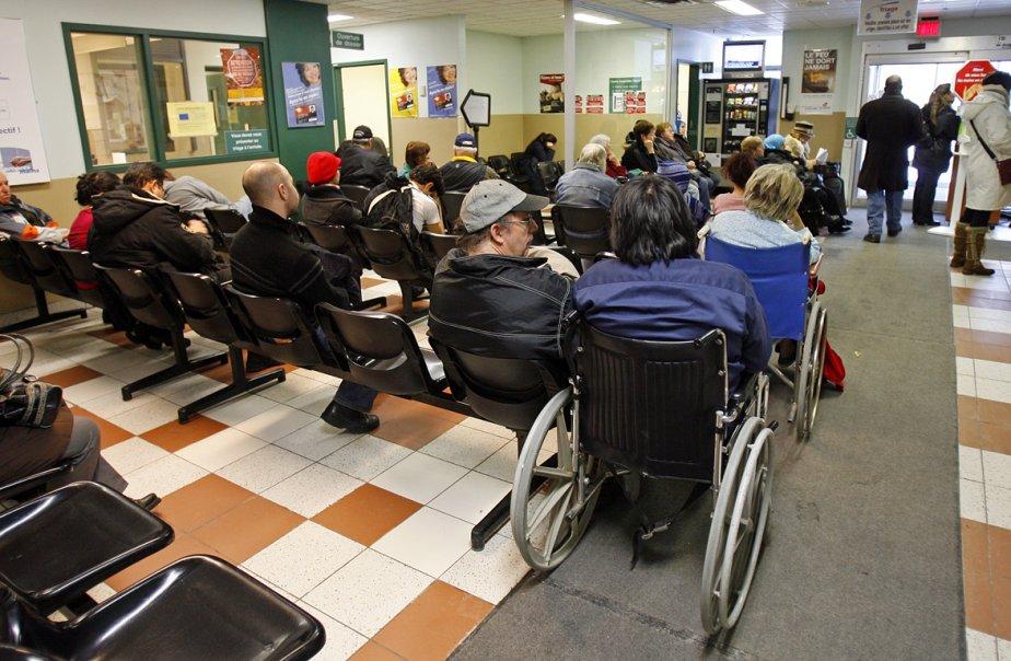 À Montréal, l'attente est toujours interminable, avec une... (Photo Robert Mailloux, archives La Presse)