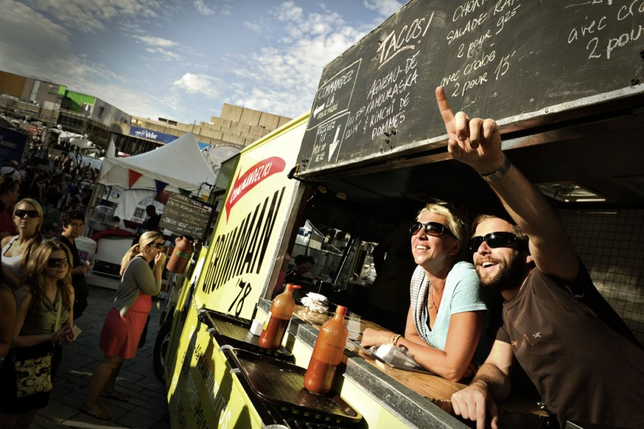 Le camion à tacos Grumman '78 a connu... (Photo Bernard Brault La Presse)