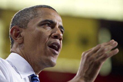 Barack Obama a félicité dimanche François Hollande pour son... (Photo: AP)