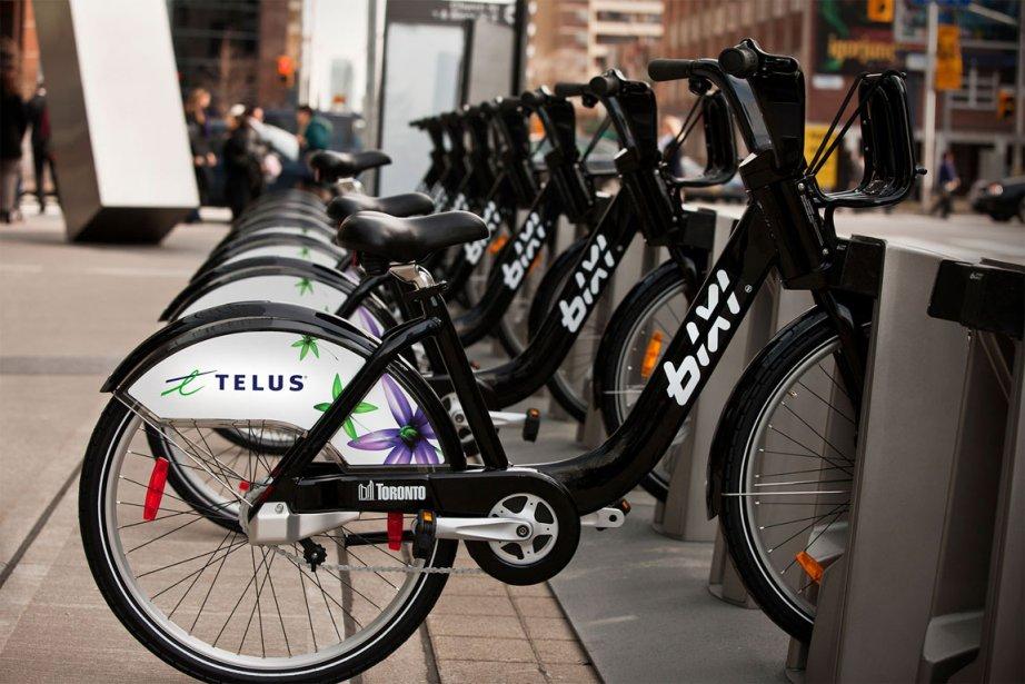 Vélos Bixi à Toronto.... (Photo fournie par Bixi Toronto)