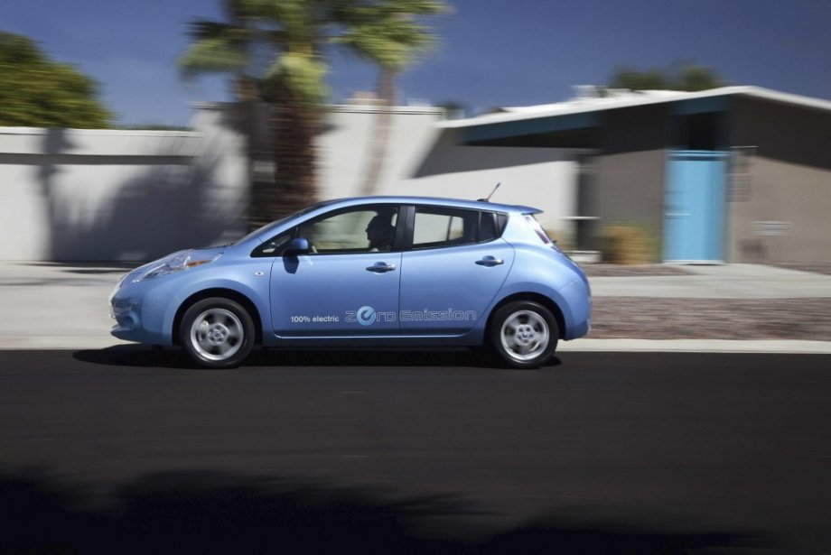 La Nissan Leaf. (Photo Éric LeFrançois, collaboration spéciale)