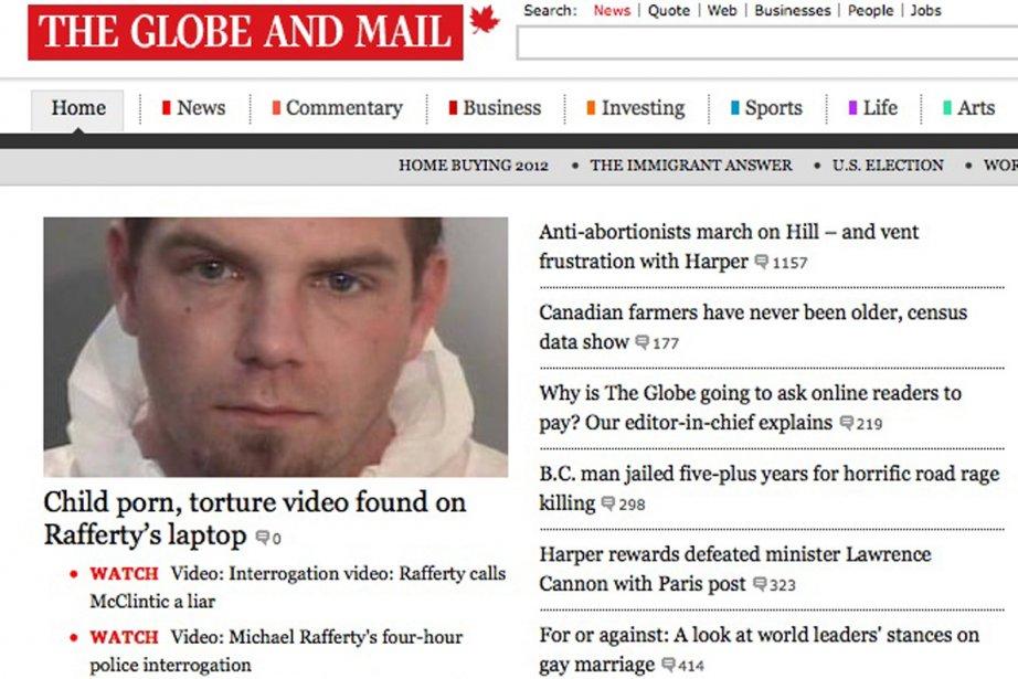 La page d'accueil du site internet du quotidien... (Photo: capture d'écran)