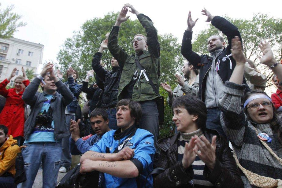 Des opposants manifestent à Moscou.... (Photo: Reuters)