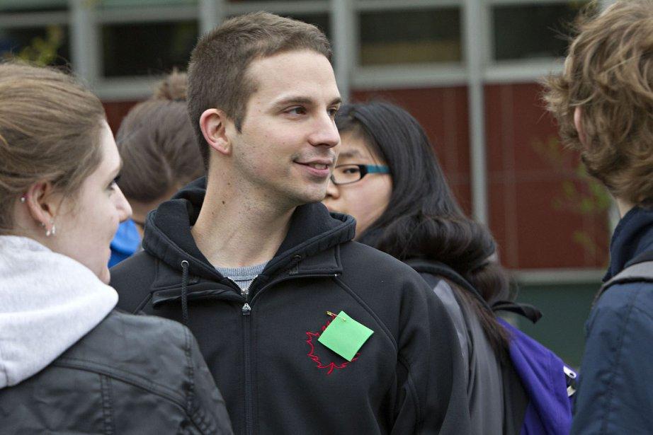 Un étudiant favorable à la hausse des droits... (Photo: Patrick Sanfaçon, La Presse)