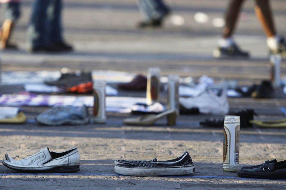 Les corps ont été trouvés au bord de... (Photo: Daniel Becerril, Reuters)