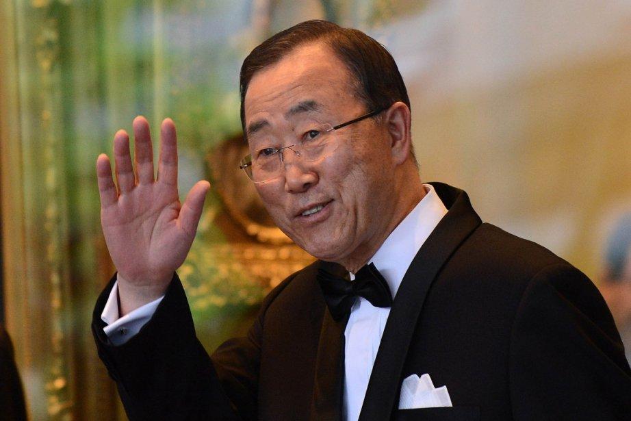 Ban Ki-moon à Washington le 7 mai.... (Photo: AFP)
