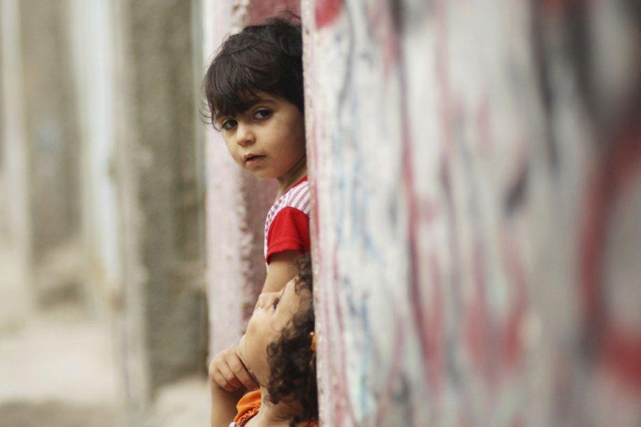 Deux enfants palestiniens au camps de réfugiés de... (Photo: Mohammed Salem, Reuters)
