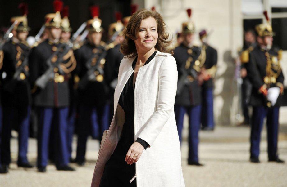 La nouvelle Première dame de France, la journaliste Valérie Trierweiler. (Photo: LIONEL BONAVENTURE, AFP)